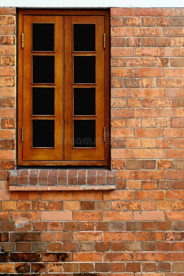 Free Wood Window And Red Bricks Wall Stock Photo - 24407100