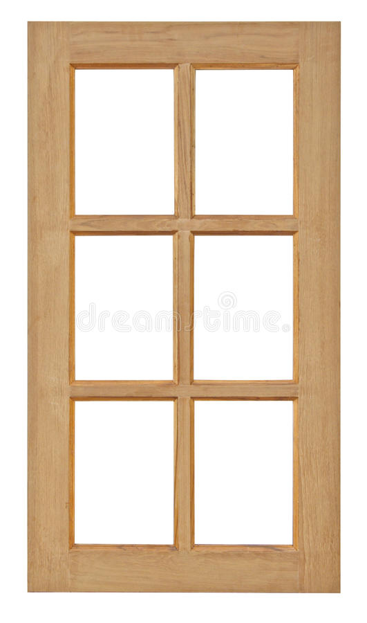 Wood window isolated for home construction. Wood window isolated for home construction on white background royalty free stock photography