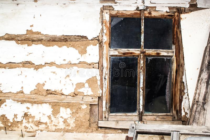 Wood window of the old house royalty free stock images