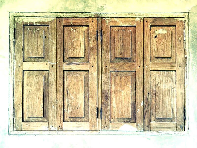 Wood Windows. In Cafe Uttaradit stock photos