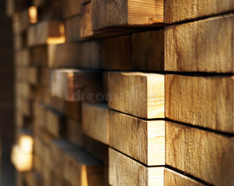 Wood. En wall with various projections and measures royalty free stock photography