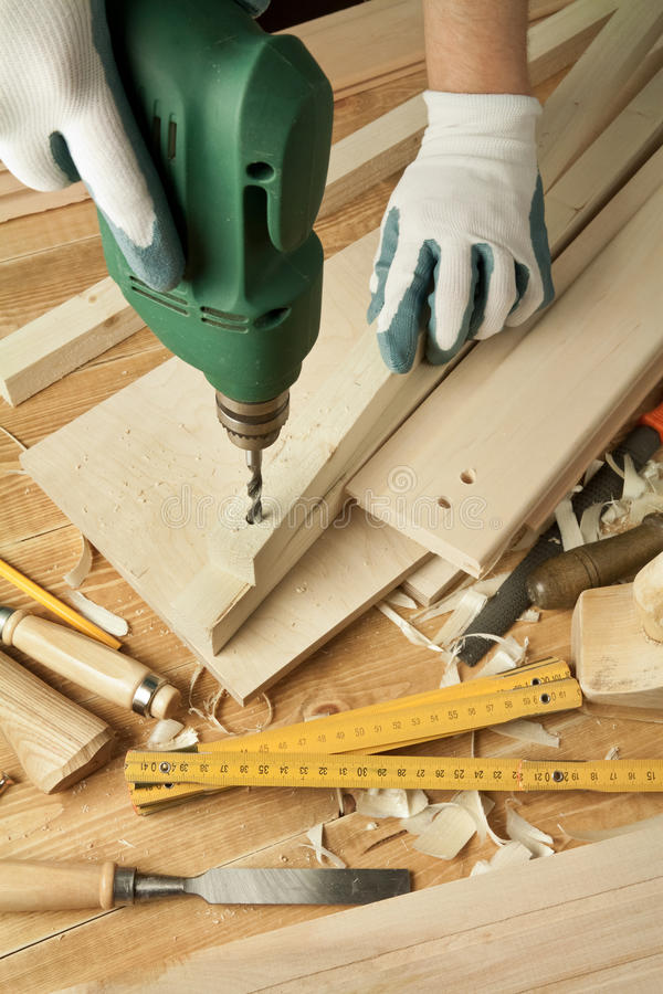 Wood working royalty free stock photography