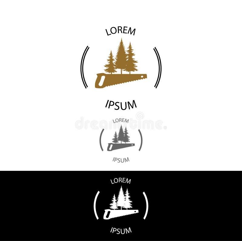 Wood Workshop icon. EPS 10 format stock illustration