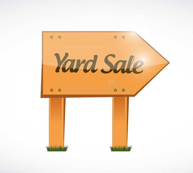 Wood yard sale sign illustration design vector illustration