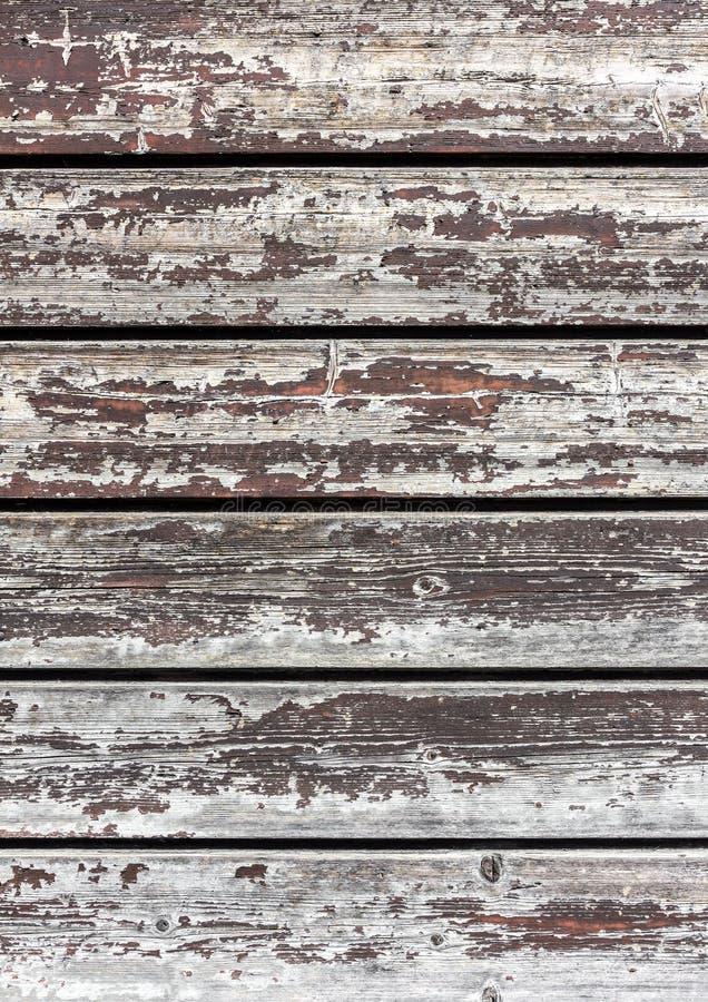 Wood yttersida med skalningsmålarfärg arkivbilder