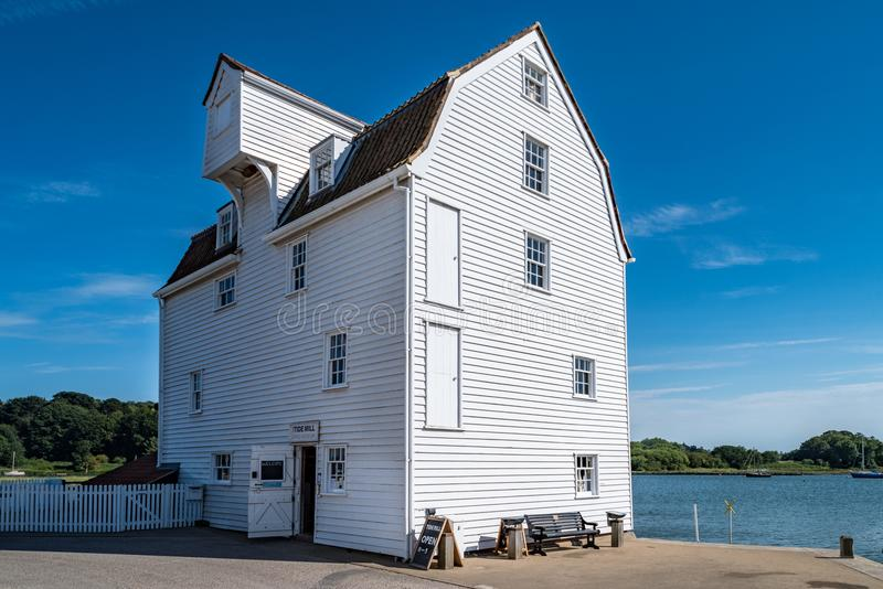 Woodbridge Tide Mill. On the River Deben in England stock images