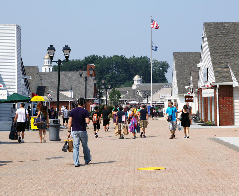 Woodbury commons outlets. royalty free stock photography