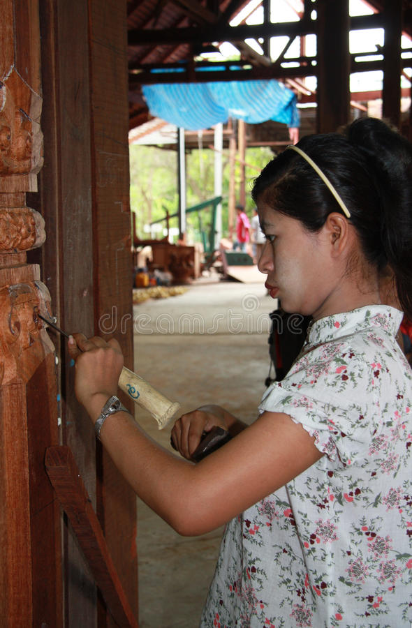 Download Woodcarving editorial stock photo. Image of artisans - 25776833