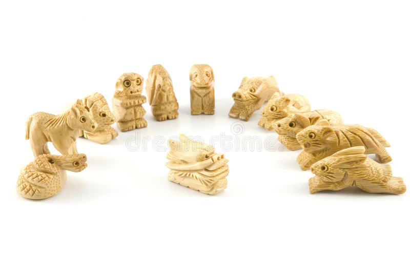 woodcarving chinois de signe de dragon images stock