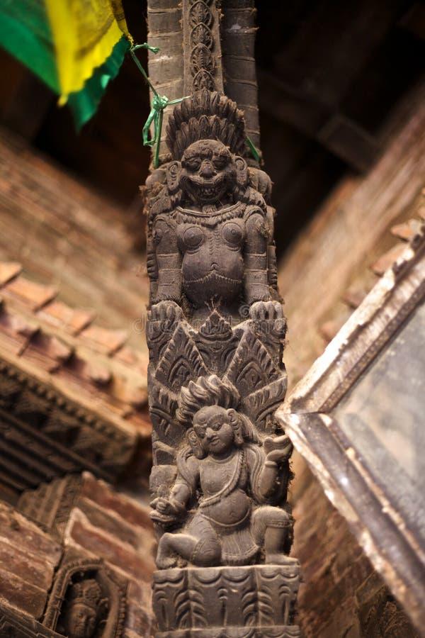 Woodcarving complicado de Buda fotos de archivo libres de regalías