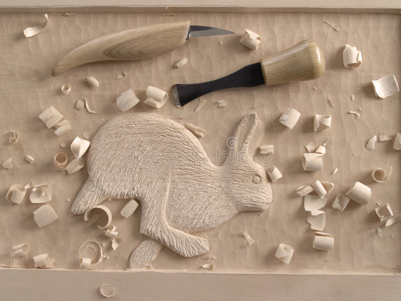 Download Woodcarving in relief stock photo. Image of relief, sharp - 2417092