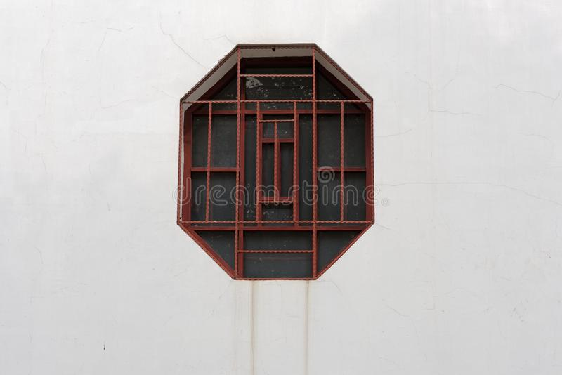 Woodcarvingsvensters stock afbeeldingen
