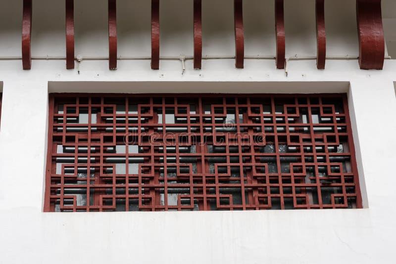 Woodcarvingsvensters stock afbeelding