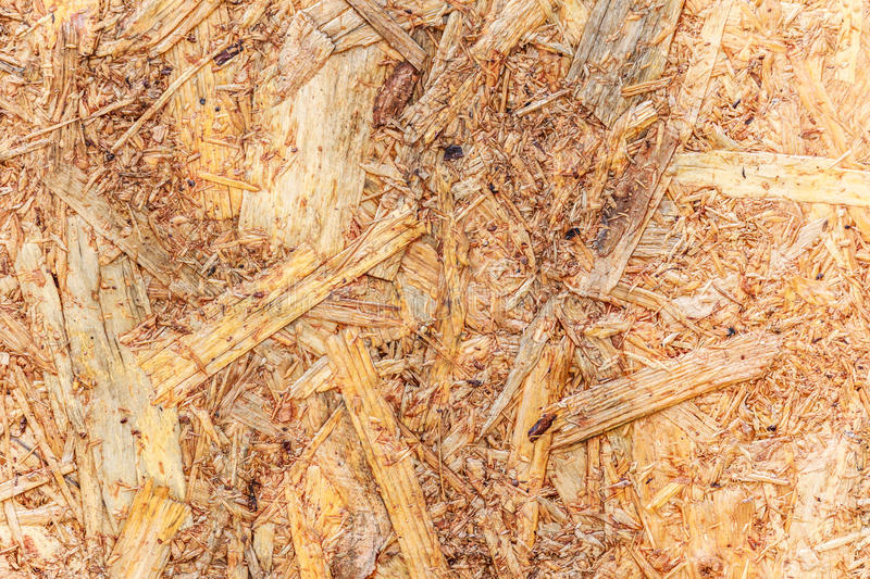 Woodchips compressed together for background stock photo