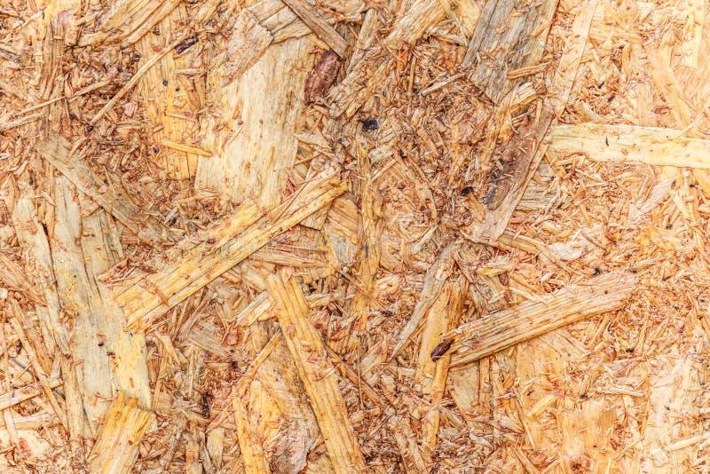 Woodchips comprimidos junto para o fundo foto de stock