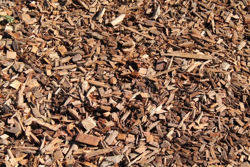 Woodchips da casca do jardim foto de stock royalty free