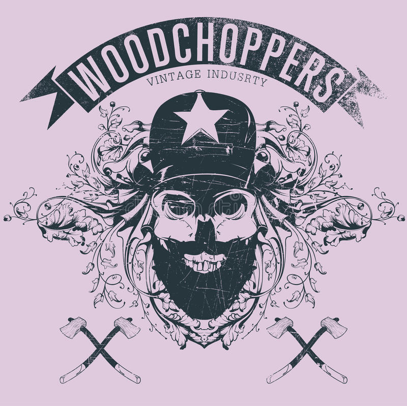Woodchopers illustrazione di stock
