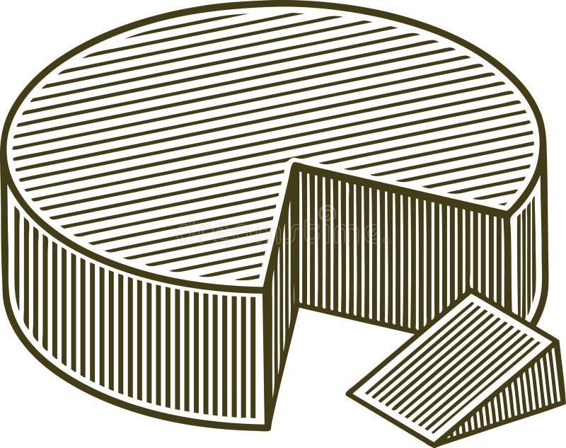 Woodcut blok ser ilustracja wektor