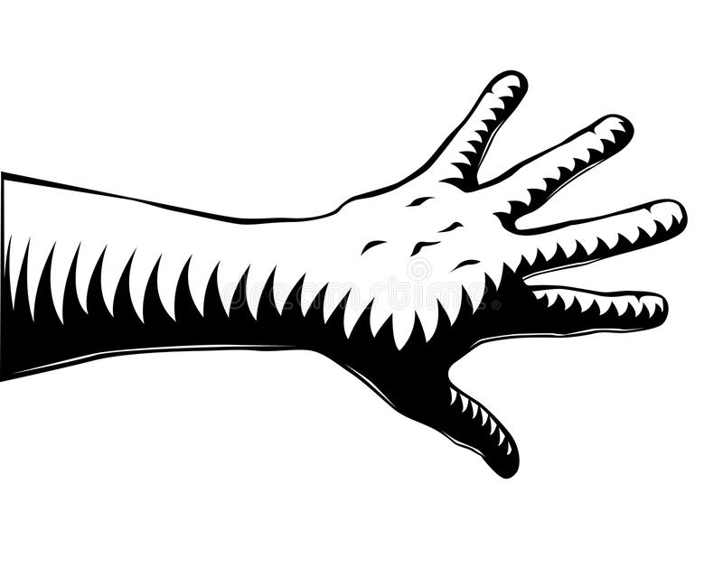Download Woodcut hand stock vector. Illustration of hand, stripey - 9766781