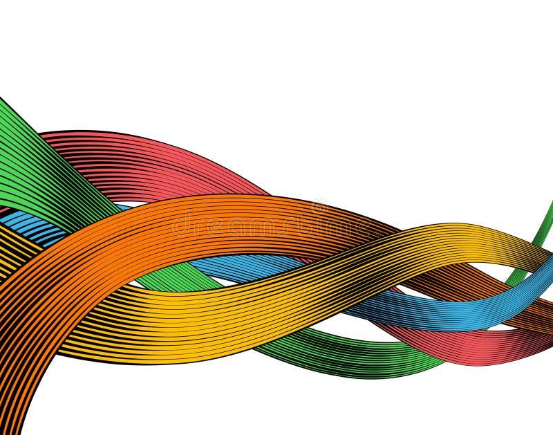 Woodcut ribbons stock illustration