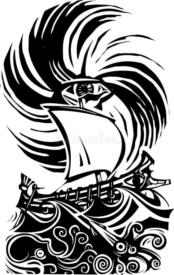 Storm for Ulysses royalty free illustration