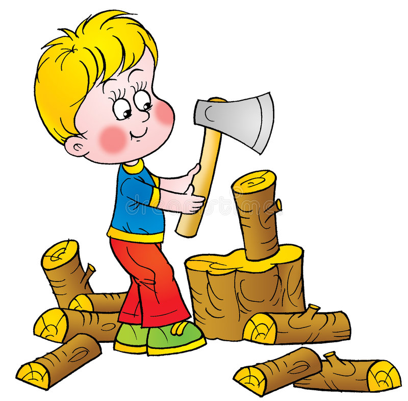 Woodcutter illustrazione di stock