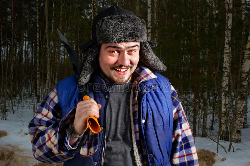 Woodcutter With Hatchet Stock Image