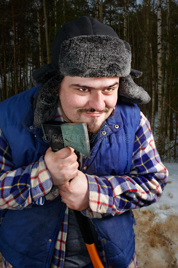 Download Woodcutter With Hatchet Stock Image - Image: 13246041