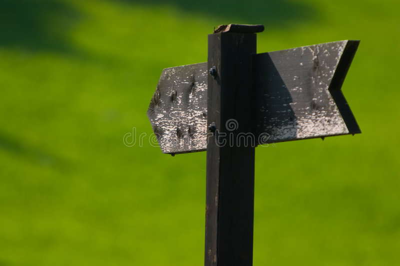 Wooded sign royalty free stock images
