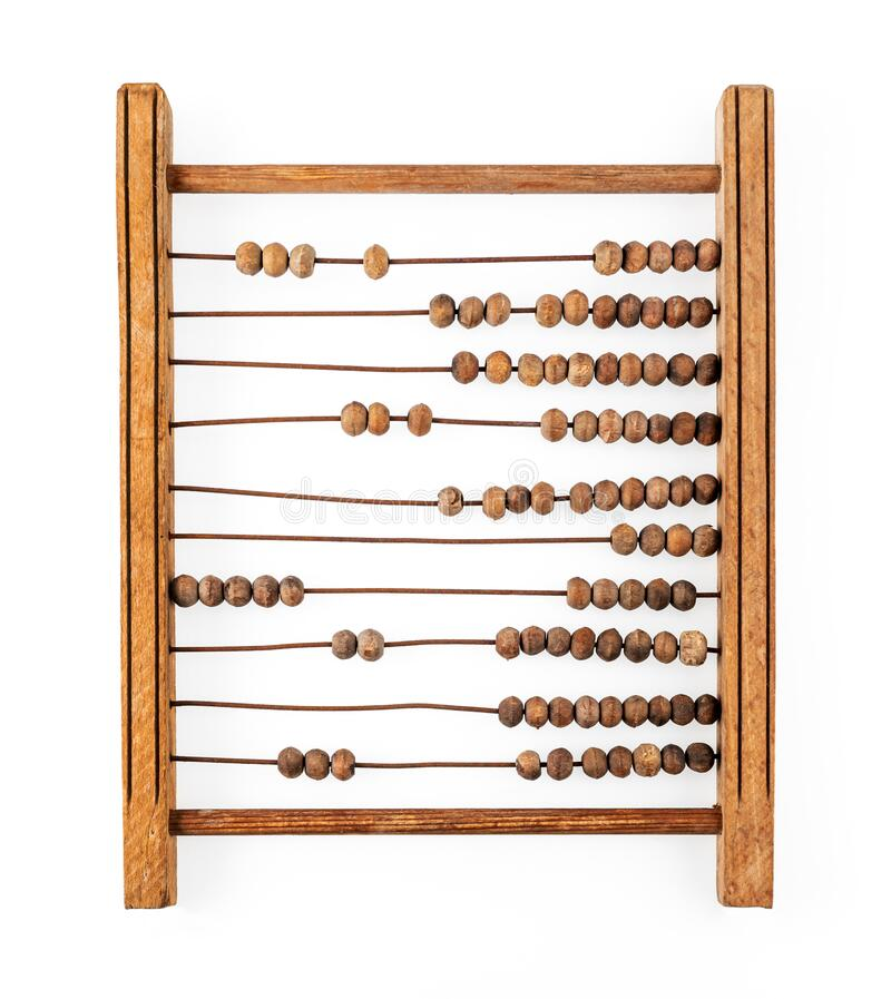 Wooden abacus stock fotografie