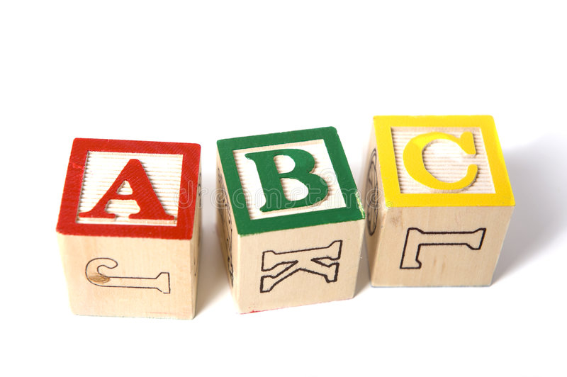 Wooden ABC Blocks Stock Photography