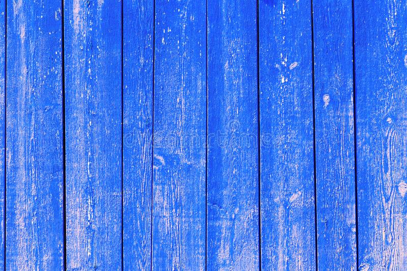 Wooden abstract background, texture of blue color with natural patterns stock photo