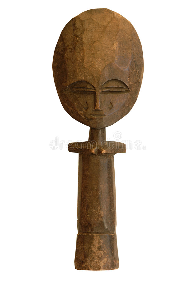 Wooden african sculture stock image