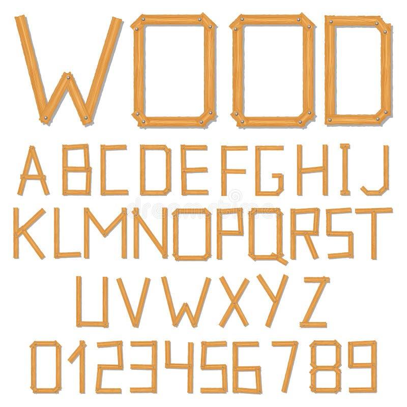 Download Wooden alphabet stock vector. Illustration of board, sign - 24824121