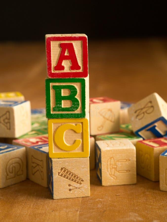 Wooden Alphabet Blocks stock photos