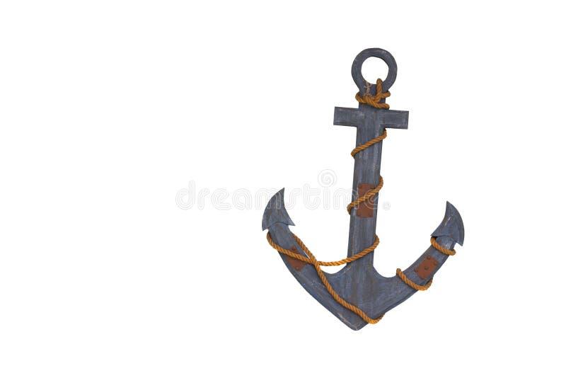 Wooden anchor stock photos