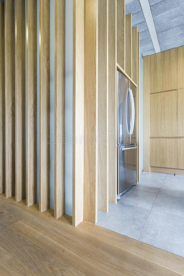 Free Wooden And Concrete Interior In Modern House Stock Image - 91335851