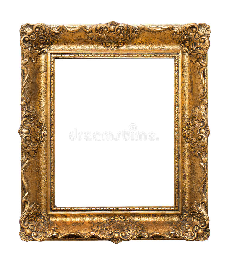 Free Wooden Antique Frame For Paintings Isolated On White Background Stock Photo - 85805570