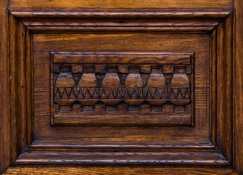 Wooden architectonic decoration royalty free stock images