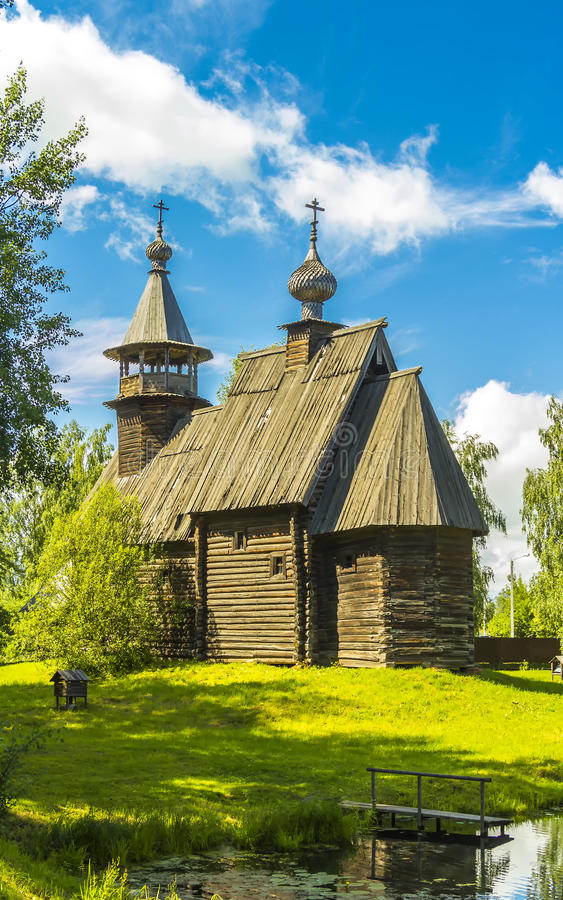 Wooden architecture, church Merciful Savior royalty free stock image