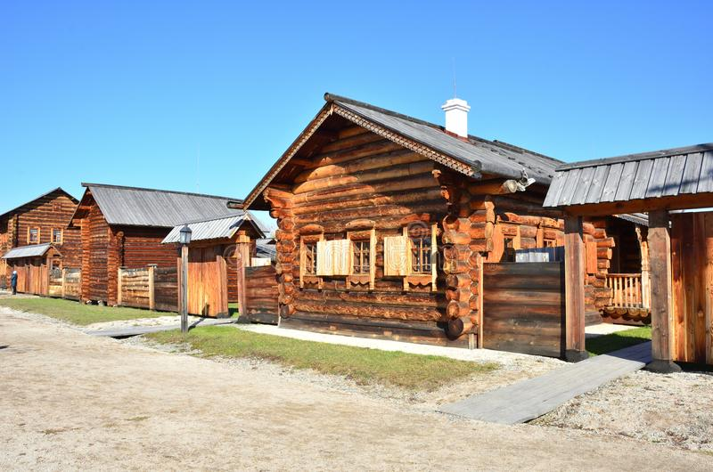 Wooden architecture. Old Russian village. Wooden houses. Russia. royalty free stock images