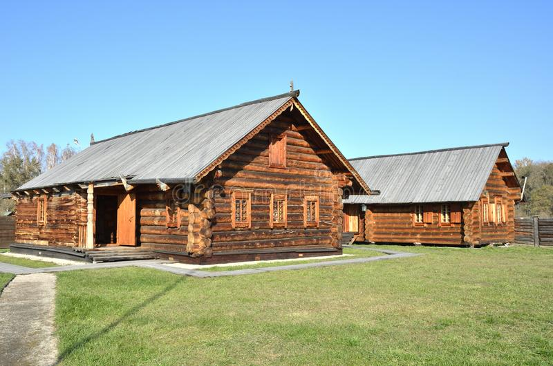 Wooden architecture. Old Russian village. Wooden houses. Russia. royalty free stock photos