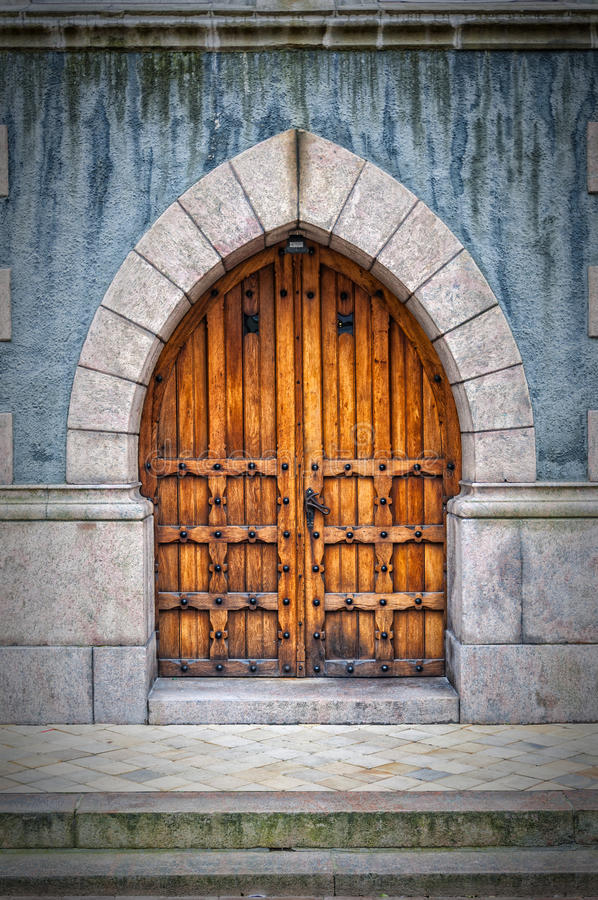 Download Wooden Archway Doors stock image. Image of decoration - 52372501 & Wooden Archway Doors stock image. Image of decoration - 52372501