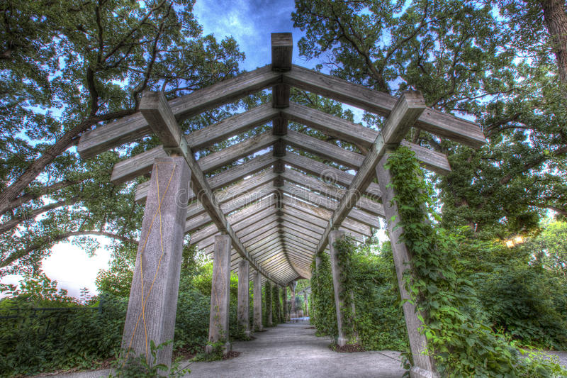 Wooden Archway royalty free stock images