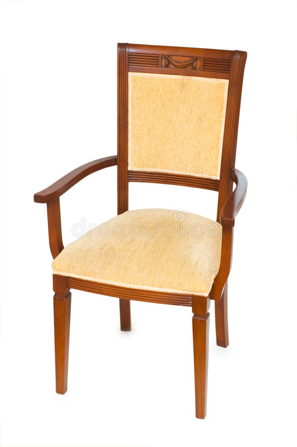 Wooden Arm Chair Isolated Royalty Free Stock Photo