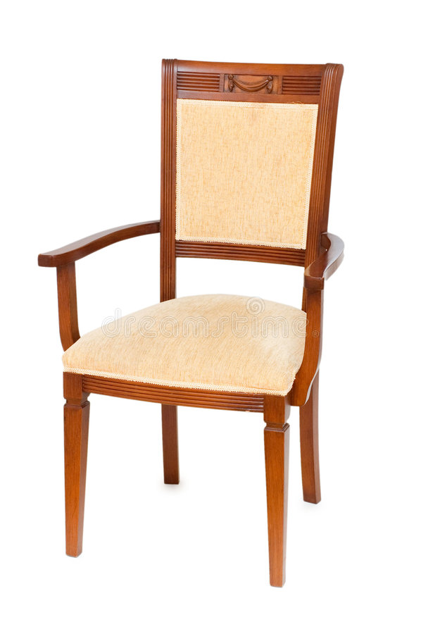 Download Wooden Arm Chair Isolated On The White Royalty Free Stock Image - Image: 5956516