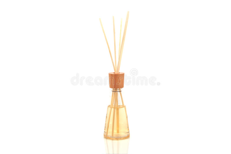 Download Wooden Aroma Spa Sticks In Bottle, Isolated On White Stock Photo - Image of decorative, elegance: 33303778