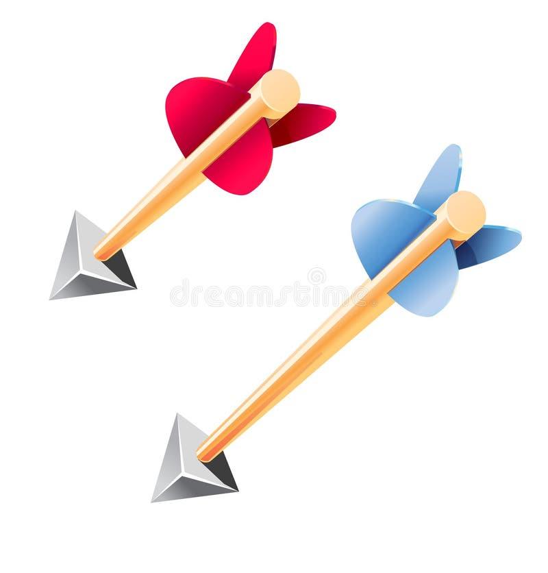 Wooden arrows vector illustration