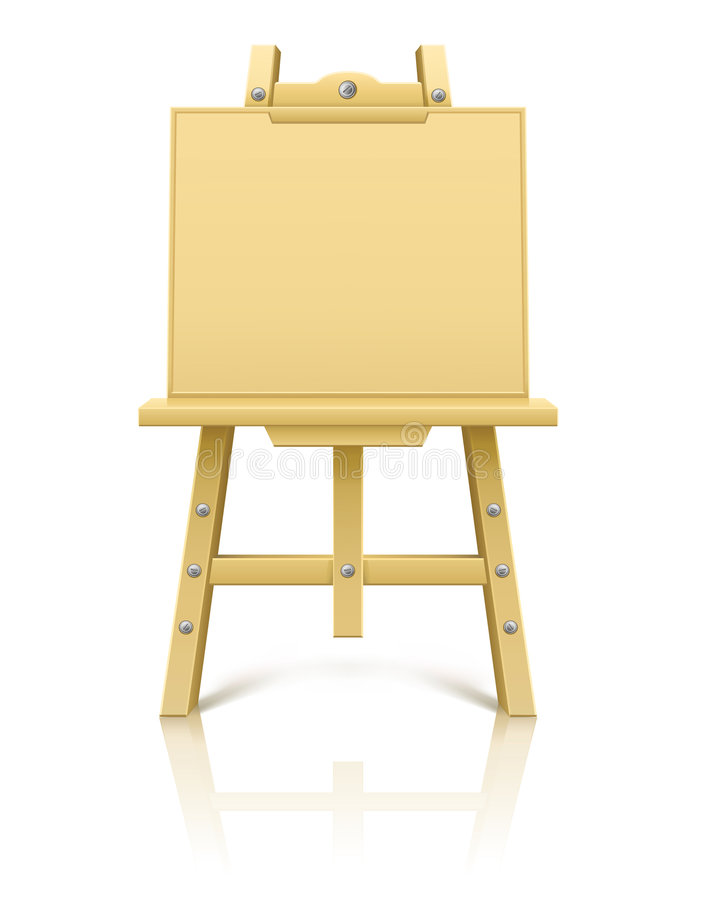 Wooden art easel tool for drawing