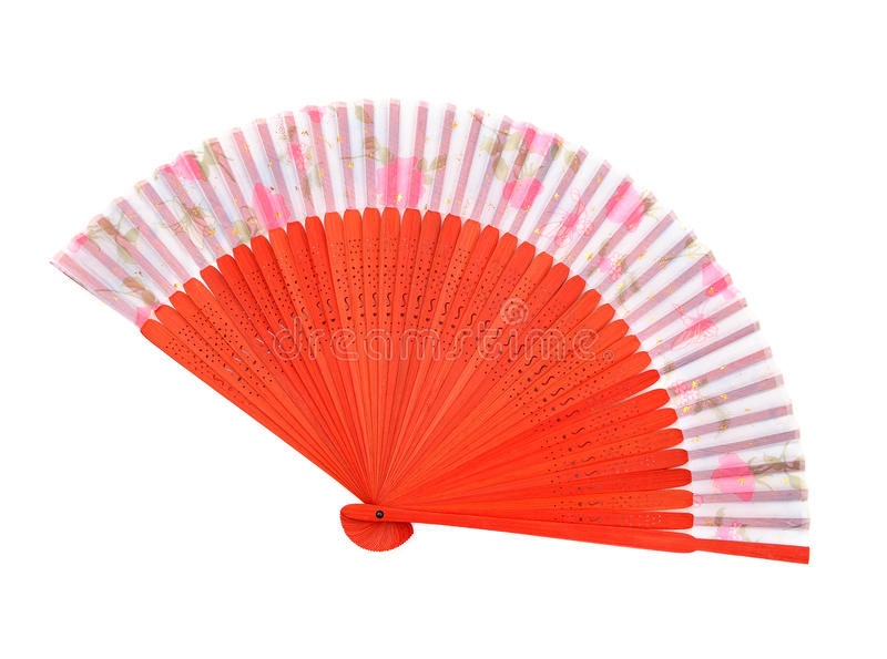 Wooden asian fan royalty free stock photo
